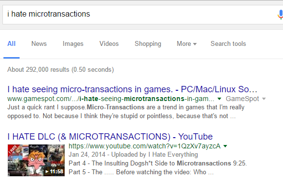 hate microtransactions